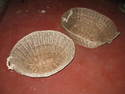 2 wicker laundry baskets